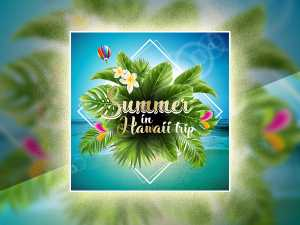 Summer in Hawaii trip-Social Media Templates