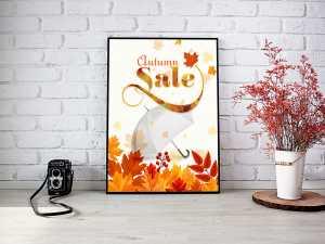 Autumn sale Poster Templates