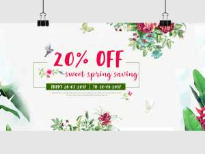 Spring Sale Off – Social Media Template
