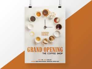 Coffee Shop Opening Poster