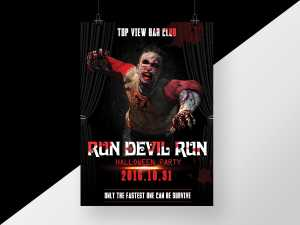 Run Devil Run Halloween Poster