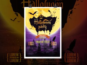 Halloween Party-Poster Template