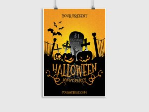 Halloween Night Party – Poster Template 07071