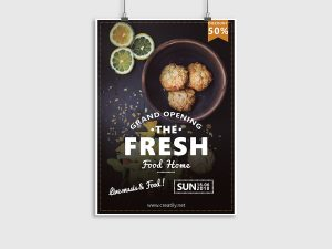 Grand Opening Home Food – Flyer Design Templates