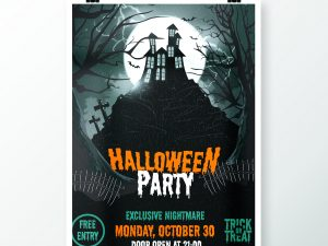 Halloween Part Night Fly Templates – Poster