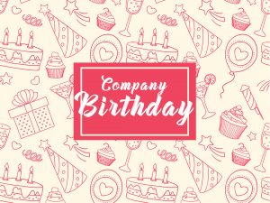 Company Happy BirthDay – Social media template