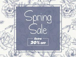 Spring Sale Off  Social Media Template