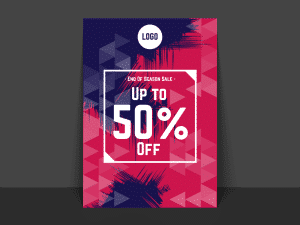End of Season Sale Poster, Flyer Templates