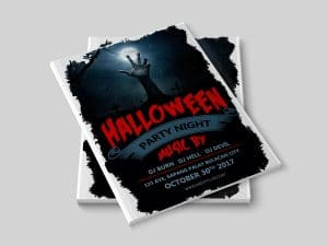 Halloween party night – poster template