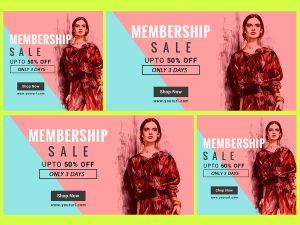 Membership Sale – Social Media template
