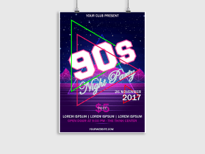 90s Night Party – Poster Templates