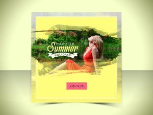 Enjoy Summer holidays Design Templates