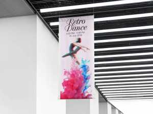 Retro Dance Roll up, Standee Templates