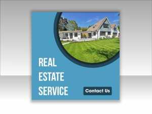 Real Estate Service Social Media Design Template