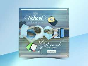 Back to school promotion Social Media template