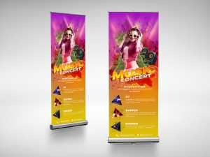 Music Concert Roll up Banner