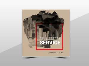 Real Estate service Social media Teamplate