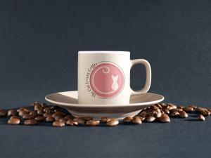 Cat Lovers Coffee Logo Design