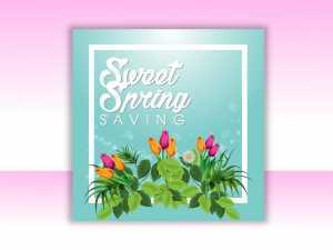 Sweet Spring Saving Social Media Template