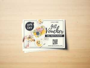 Deli Restaurant Voucher Template