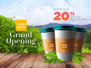 Coffee Shop – Grand Opening Promotion – Design Template